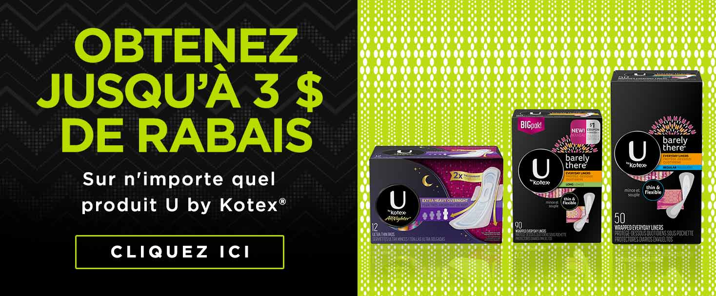 Get $3 Off Any U by Kotex Product
