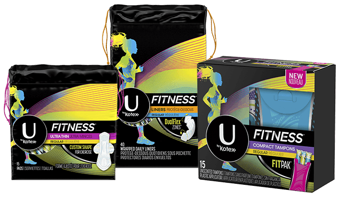 U by Kotex® FITNESS* products