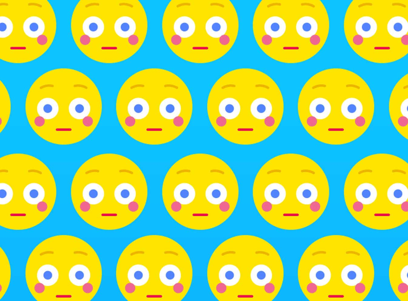 Tile of emoji faces