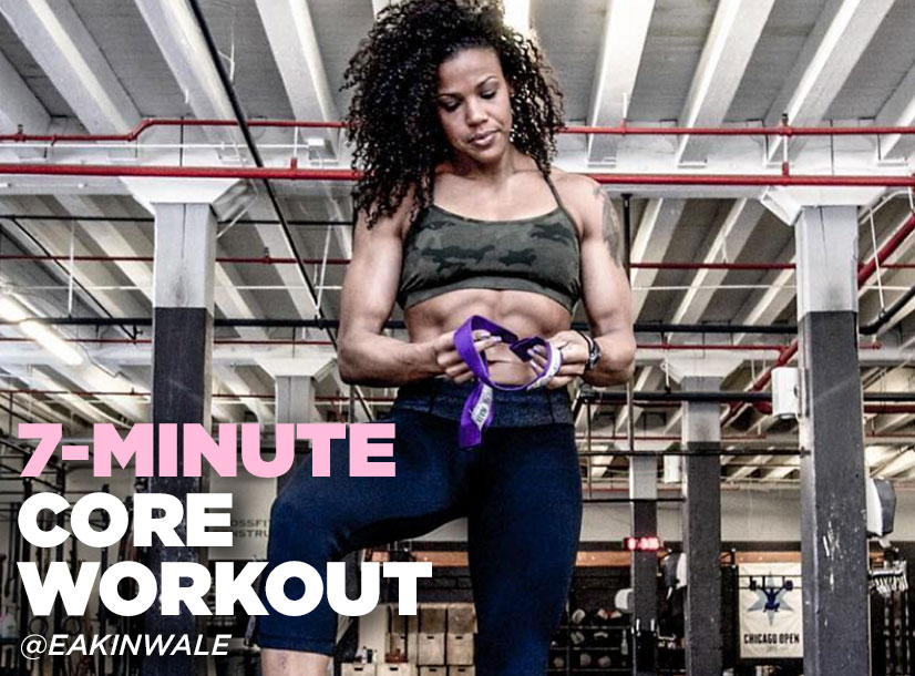 Elisabeth Akinwale's core workout you can do in just seven minutes