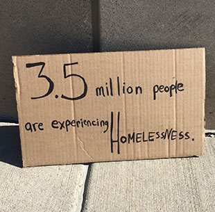 3.5 million people are experiencing homelessness and are in need of period products.