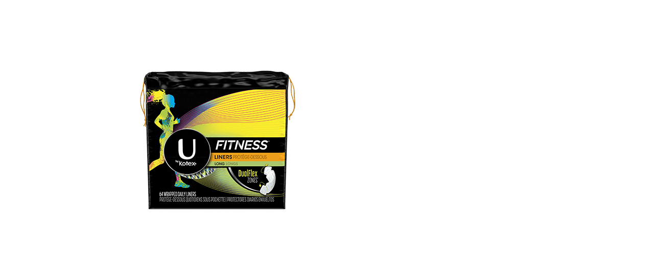 U By Kotex Fitness Liners Long Box.