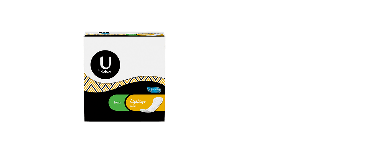 U By Kotex Lightdays Liners Product Package