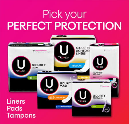 U by Kotex® products to pick your perfect protection