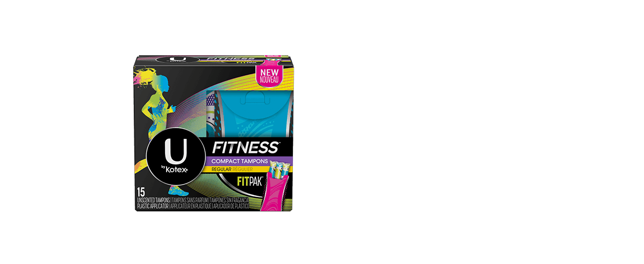 Fitness tampons regular box.