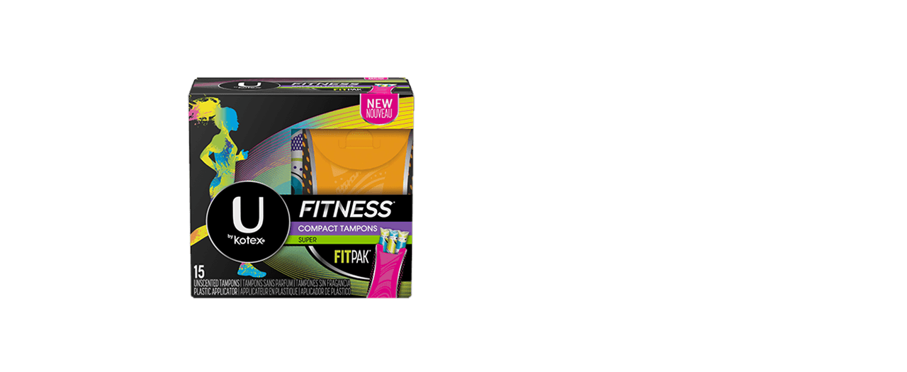 U By Kotex Fitness Tampons Super Box.