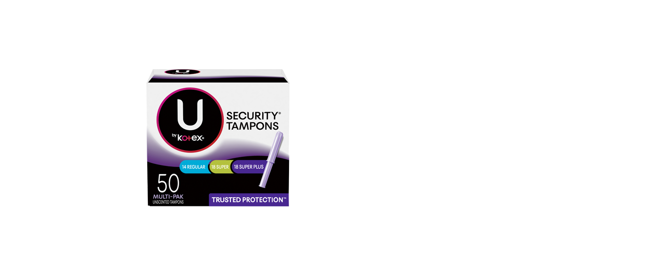 U by Kotex Security Tampons Regular Super Plus unscented tampons 50 multi pack