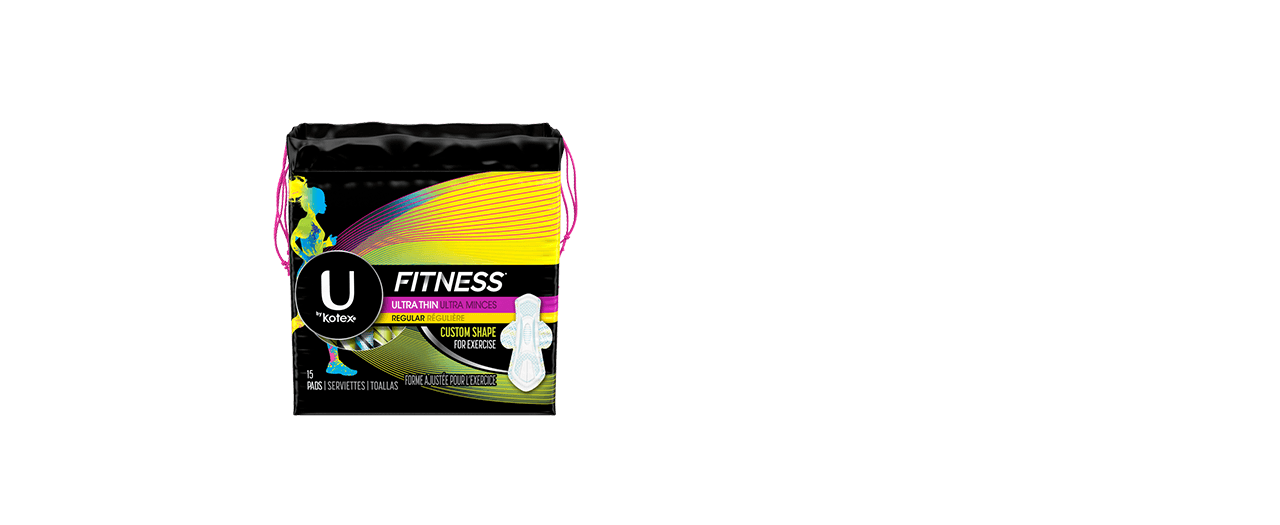 Fitness ultra thin pads regular box.