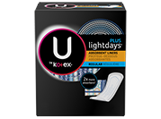 U by Kotex® Lightdays® Plus pads, regular