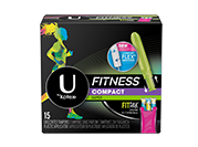 U by Kotex Fitness Tampons Super packaging.