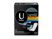 U by Kotex LightDays plus liners 40 pack