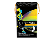 U by Kotex Fitness Liners Regular packaging.
