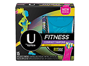 U by Kotex Fitness Tampons Regular packaging.