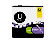 Security tampons super.The image shows a pack which is half white and half black in colour. The product is used for high level of absorbency with medium level of absorbency.